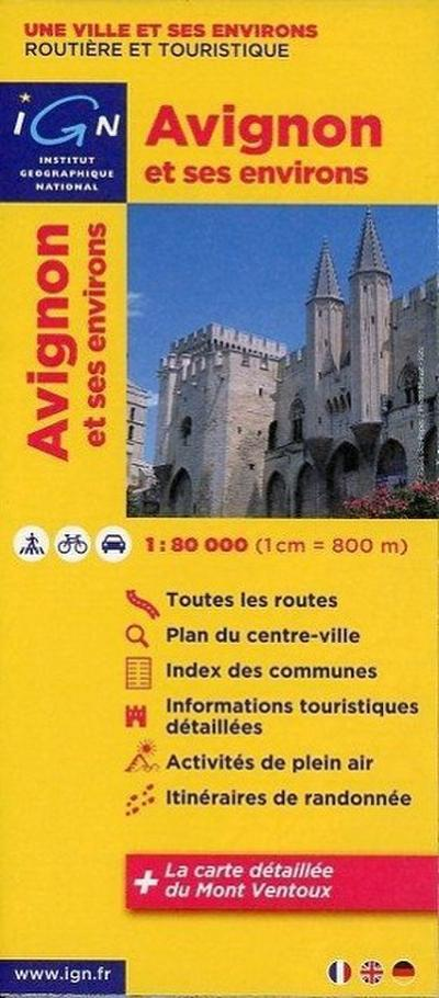 Avignon und Umgebung 1 : 80 000 Freizeitkarte