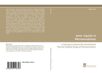 Ionic Liquids in Microemulsions