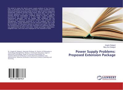 Power Supply Problems: Proposed Extension Package