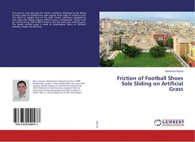 Friction of Football Shoes Sole Sliding on Artificial Grass