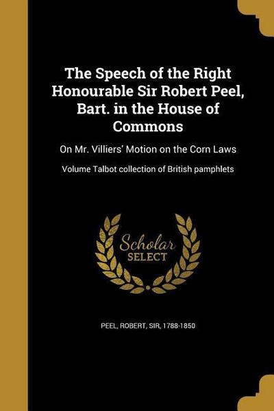 SPEECH OF THE RIGHT HONOURABLE