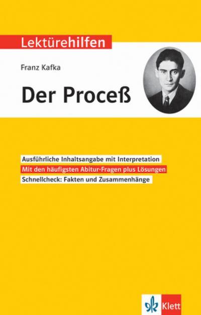 """Klett Lektürehilfen Franz Kafka, """"Der Proceß"""""""