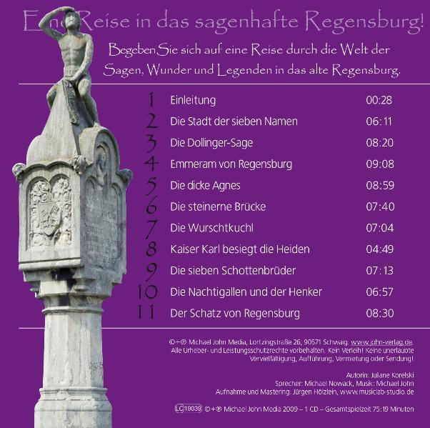 Regensburger Sagen und Legenden Juliane Korelski 9783981125092