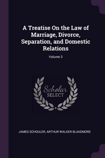 A Treatise on the Law of Marriage, Divorce, Separation, and Domestic Relations; Volume 3