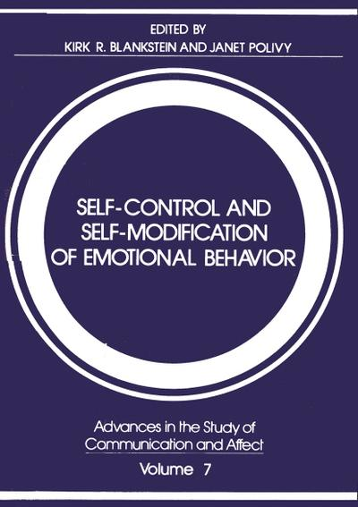Self-Control and Self-Modification of Emotional Behavior