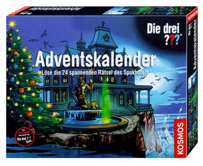 KOSMOS 630997 - Die drei ??? Adventskalender - KOSMOS - Spielzeug, Deutsch, , Löse die 24 geheimnisvollen Rätsel des Spukhotels, Löse die 24 geheimnisvollen Rätsel des Spukhotels