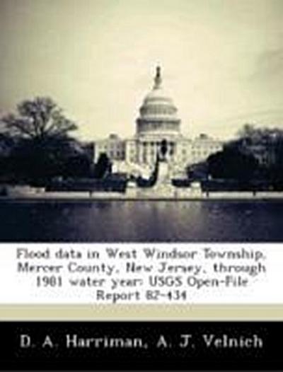 Harriman, D: Flood data in West Windsor Township, Mercer Cou