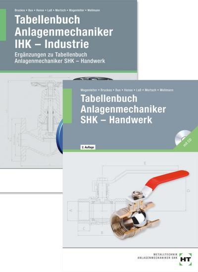 Paketangebot: Tabellenbuch Anlagenmechaniker SHK - Handwerk + Tabellenbuch Anlagenmechaniker IHK - Industrie
