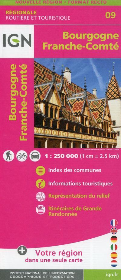 Bourgogne Franche-Comté 1:250 000