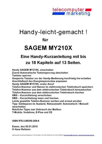 Sagem my210X-leicht-gemacht