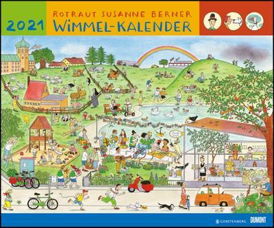 Wimmel-Kalender 2021 - DuMont Kinderkalender - Wandkalender 58,4 x 48,5 cm - Spiralbindung