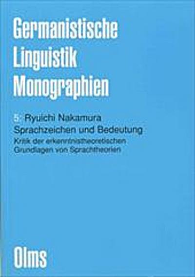 Sprachzeichen und Bedeutung