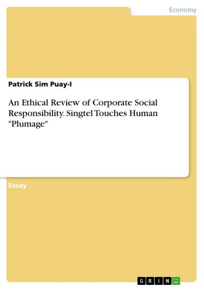 An Ethical Review of Corporate Social Responsibility. Singtel Touches Human