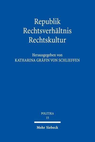 Republik - Rechtsverhältnis - Rechtskultur