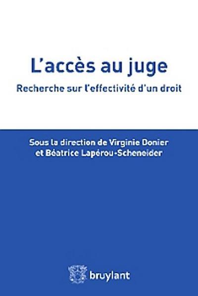 L'accès au juge
