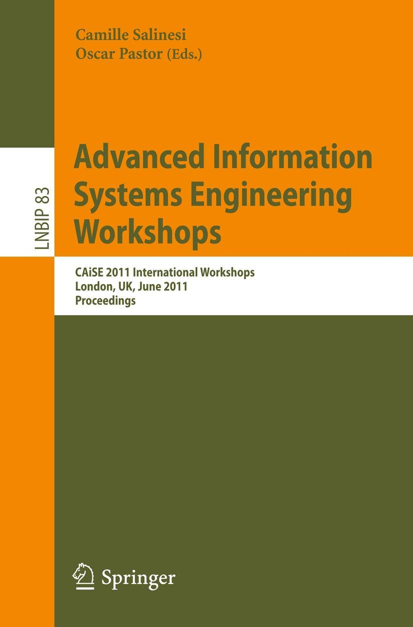 Advanced Information Systems Engineering Workshops, Camille Salinesi