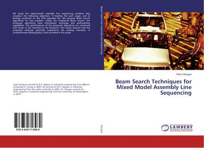 Beam Search Techniques for Mixed Model Assembly Line Sequencing