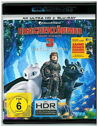 Drachenzähmen leicht gemacht 3: Die geheime Welt 4K, 2 UHD-Blu-ray