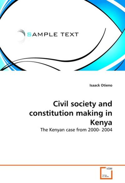 Civil society and constitution making in Kenya