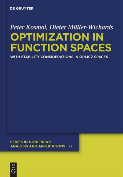 Optimization in Function Spaces