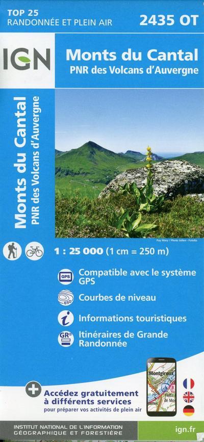 Monts du Cantal.PNR des Volcans d'Auvergne 1:25 000