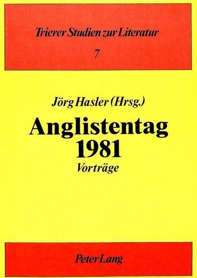 Anglistentag 1981