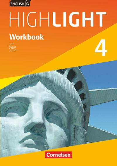 English G Highlight  04: 8. Schuljahr. Workbook mit Audios Online Hauptschule