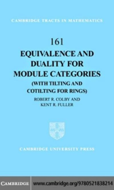 Equivalence and Duality for Module Categories with Tilting and Cotilting for Rings