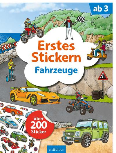 Erstes Stickern Fahrzeuge