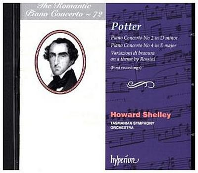 Potter - Klavierkonzerte Nr. 2 & 4. Vol.72, 1 Audio-CD