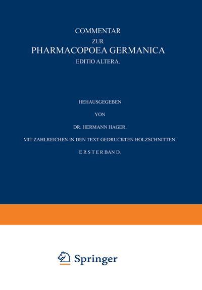 Commentar zur Pharmacopoea Germanica