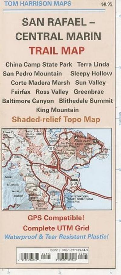 San Rafael - Central Marin Trail Map