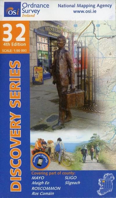 Irish Discovery Series 32. Mayo, Roscommon, Sligo 1 : 50 000