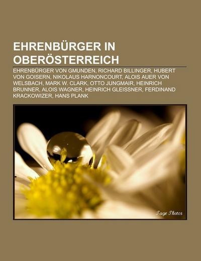 Ehrenbürger in Oberösterreich