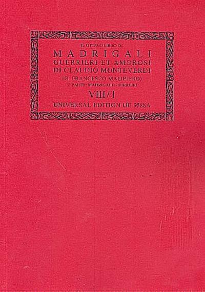 Madrigali vol.8 Canti guerrieriPartitur (it)