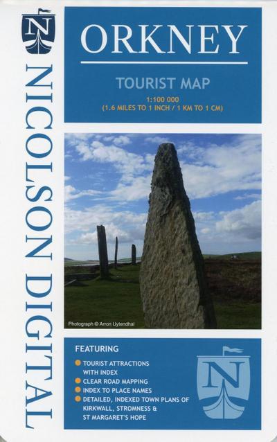 Touristische Karte Orkney 1:100 000
