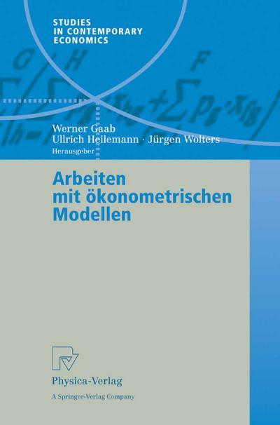 Arbeiten mit ökonometrischen Modellen