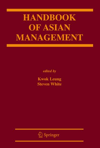 Handbook of Asian Management