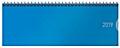 Tischquerkalender Classic Colourlux blau 2019