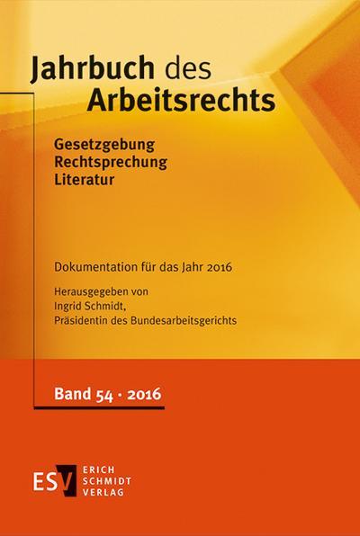 Jahrbuch des Arbeitsrechts Jahrbuch des Arbeitsrechts