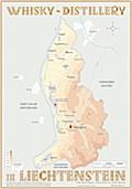Whisky Distilleries Liechtenstein - Tasting Map 24x34cm