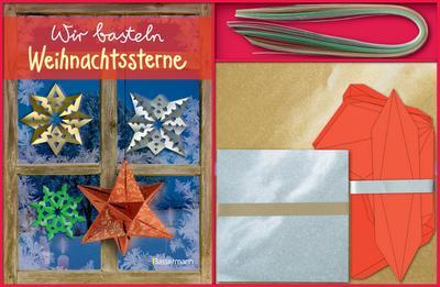Wir basteln Weihnachtssterne: Mit 120 Papierbögen, 48 Papierstreifen und 4 Kartonschablonen