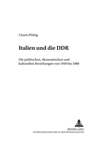 Italien und die DDR