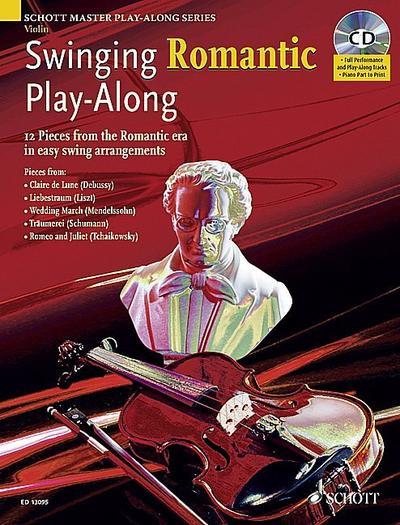 Swinging Romantic Play-Along, Violin, m. Audio-CD