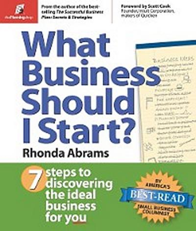 What Business Should I Start?