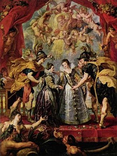 Peter Paul Rubens - Gemäldezyklus für Maria de' Medici, Austausch der Prinzessinnen - 200 Teile (Puzzle)