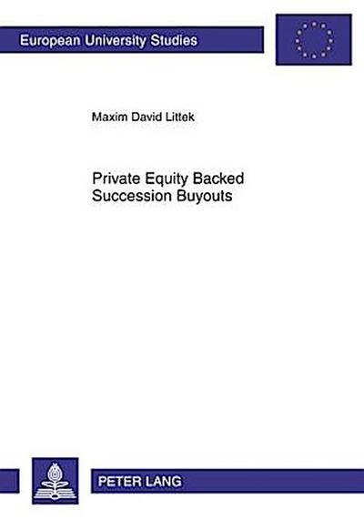 Private Equity Backed Succession Buyouts