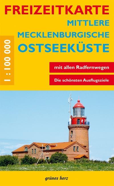 Freizeitkarte Mittlere Mecklenburgische Ostseeküste: Mit Ortsregister. Maßstab 1:100.000. (Freizeitkarten)