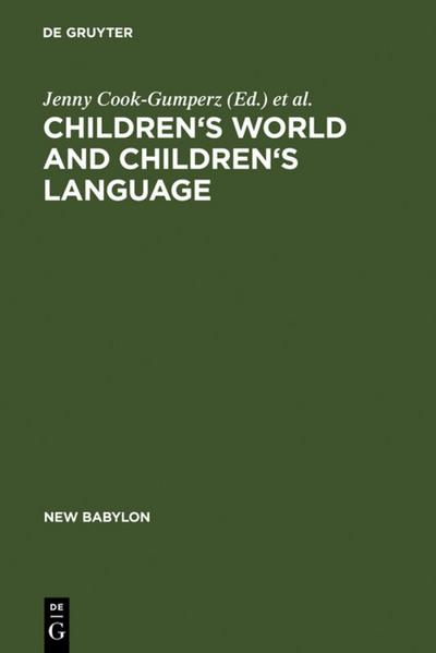 Children's Worlds and Children's Language