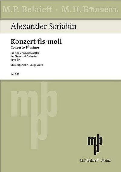 Konzert fis-Moll op.20 fürKlavier und Orchester